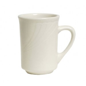 Tuxton YEM-080  Monterey Embossed Rim China Mug 2-7/8