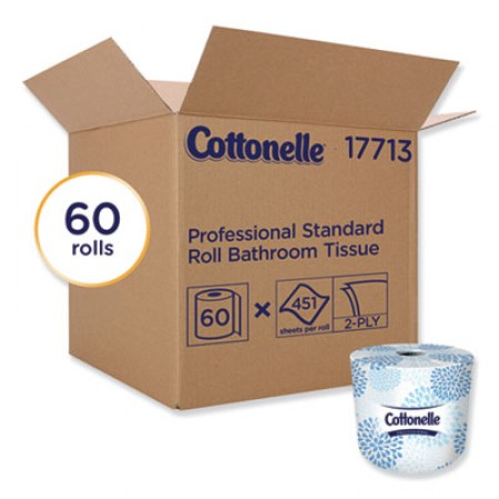 Cottonelle Two-Ply Bathroom Tissue, White, 451 Sheets/Roll, 60 Rolls/Carton