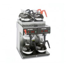 UNN 23400.0011 Twin 12 Cup Automatic Coffee Brewer with 2 Lower and 4 Upper Warmers