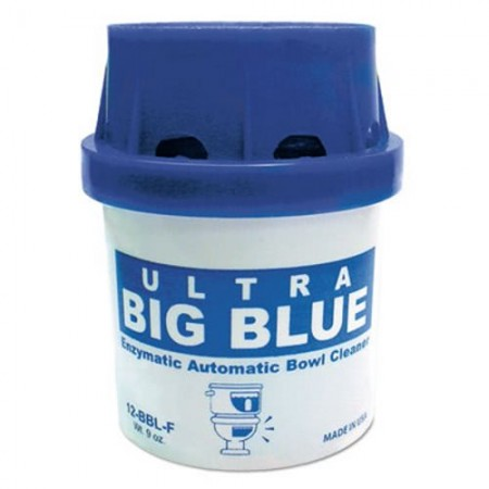 Ultra Big Blue Automatic Toilet Bowl Cleaner Cartridge, Unscented, 9 oz., 48/Carton