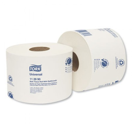 Universal 1-Ply Bath Tissue Roll with OptiCore, 1755 Sheets/Roll, 36/Carton