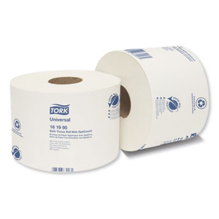 Universal 2-Ply Bath Tissue Roll with OptiCore, 865 Sheets/Roll, 36/Carton