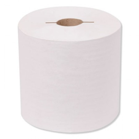 Universal Hand Towel Roll, Notched, 1-Ply, 7.5 x 10, White, 756/Roll, 6/Carton
