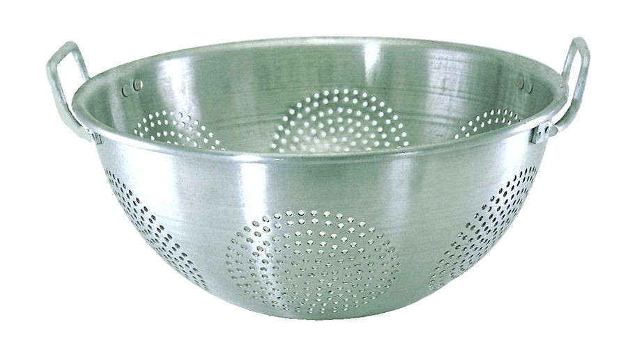 Update International ACO-16CH Chinese Colander with Handles 16 Qt.