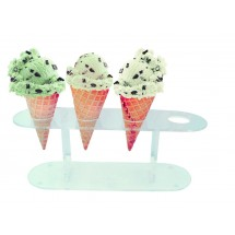 Update International ACS-4 Acrylic Cone Holder Stand for 4