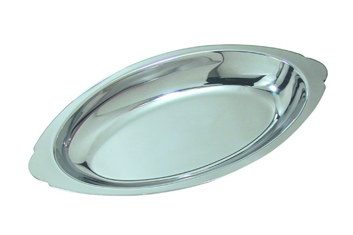 Update International AGO-15 Stainless Steel 15 Oz. Oval Au Gratin