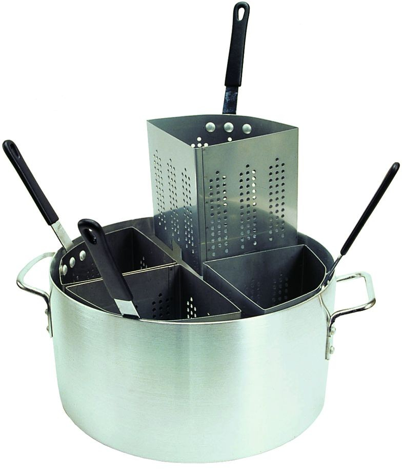 Update International APSA-4 Aluminum Pasta Cooker with 4 Inserts 20 Qt.