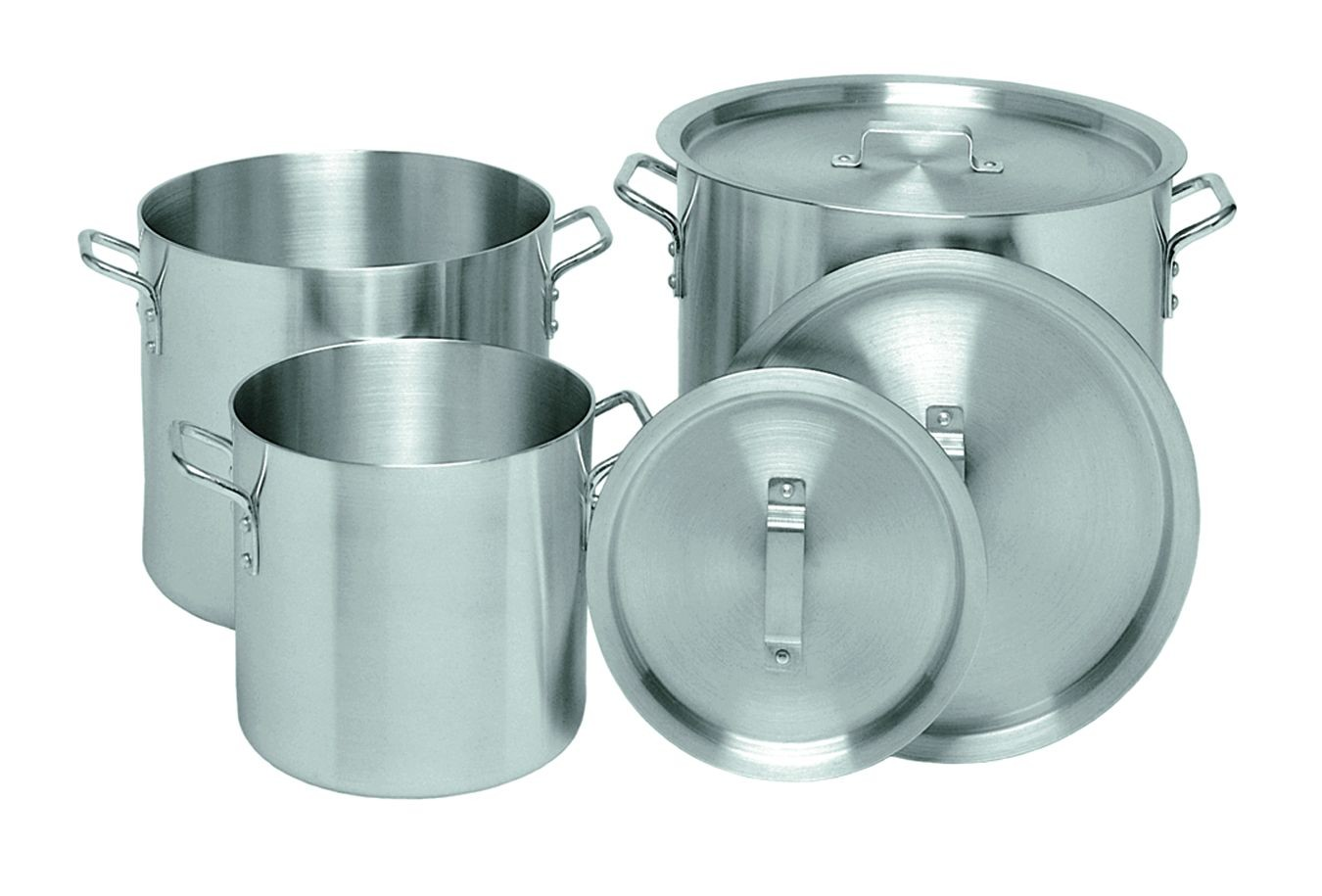 Update International APT-16 Aluminum Stock Pot 16 Qt.