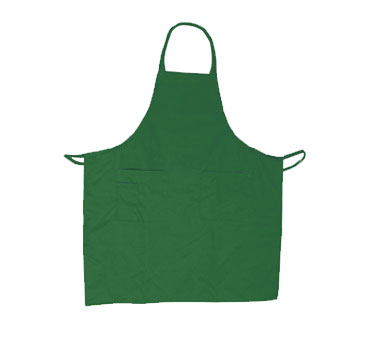 Update International BAP-GR Green Cotton Twill Bib Apron