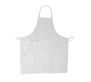 Update International BAP-WH White Cotton Twill Bib Apron