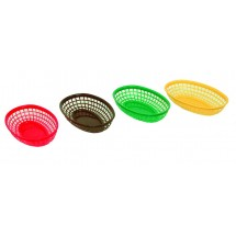 Update International BB96Y Yellow Oval Fast Food Basket - 1 doz