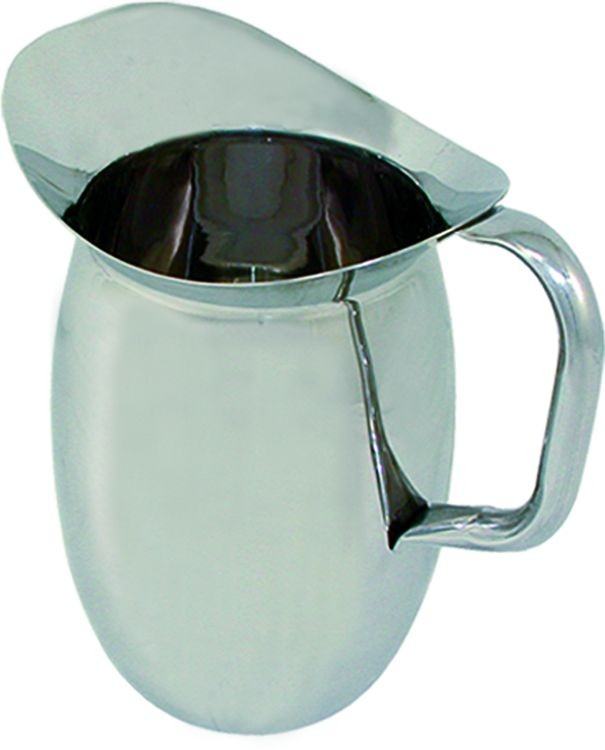 Update International BP-2 Stainless Steel 2 Qt. Bell Pitcher