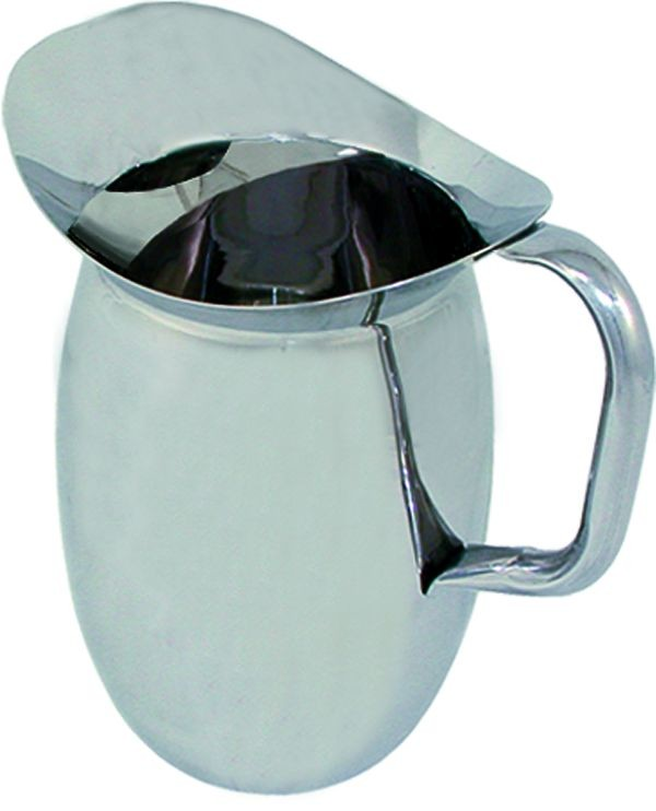 Update International BP-2G Stainless Steel  2 Qt. Bell Pitcher with Guard