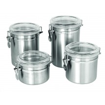 Update International CAN-4AC Canister 30 Oz. with Plastic Lid
