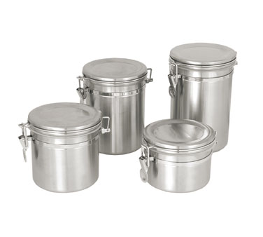 Update International CAN-5SS Canister 45 Oz. with Stainless Steel Lid