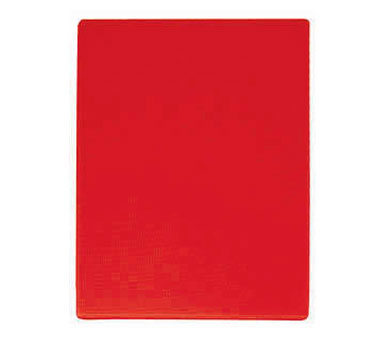 "Update International CBRE-1520 Red Plastic Cutting Board 15"" x 20"""