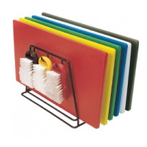 """Update International CBS-1520 Color-Coded Plastic Cutting Boards 15"""" x 20"""" - 6 pcs"""