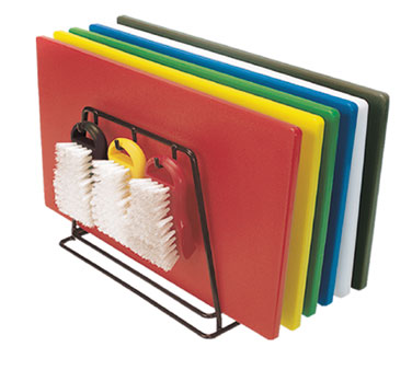 "Update International CBS-1824 Color-Coded Plastic Cutting Boards 18"" x 24"" - 6 pcs"