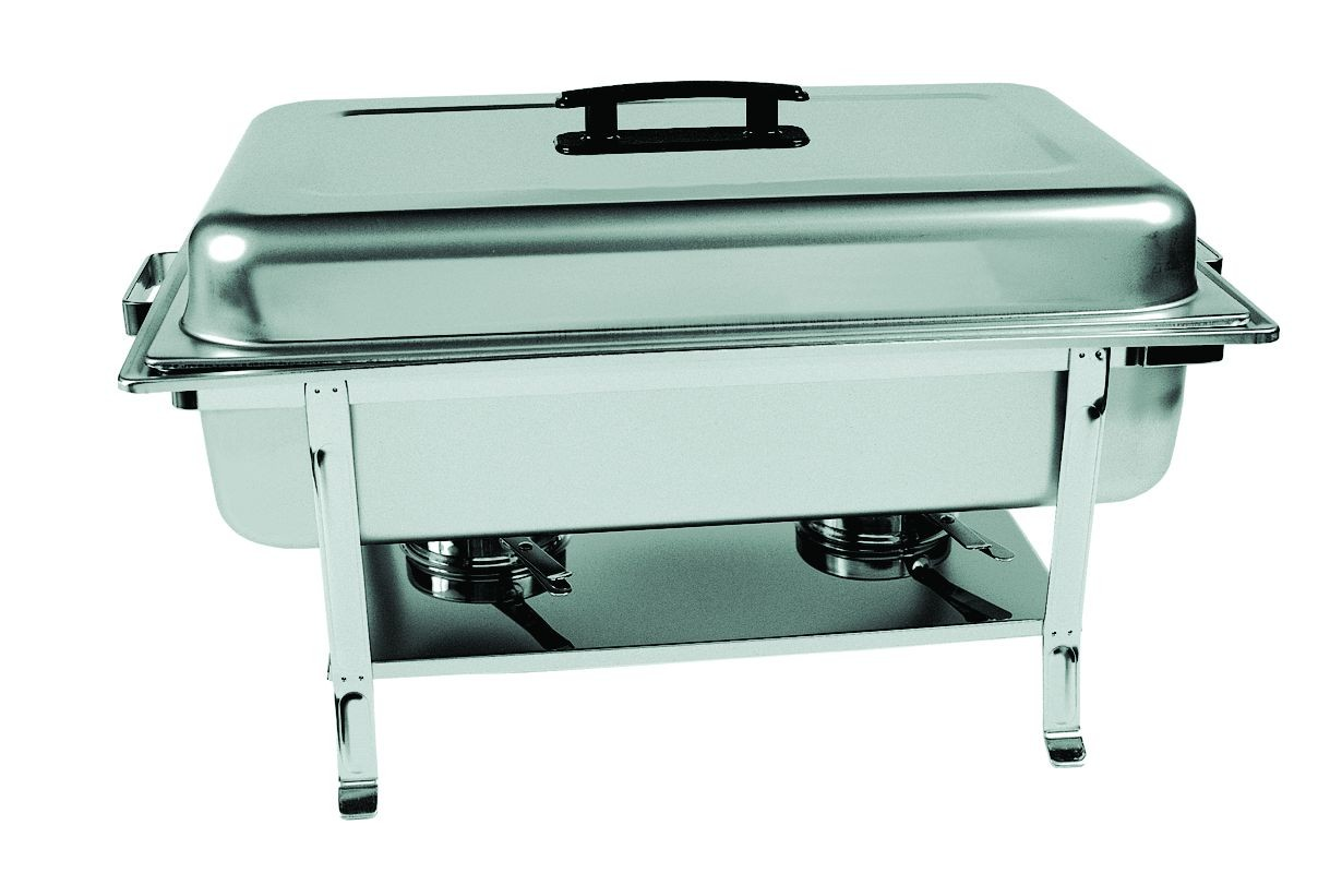 Update International CC-5P Full Size Stainless Steel Rectangular Continental Chafer with Welded Legs