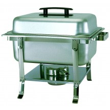 Update International CC-9P Half Size Stainless Steel Continental Chafer with Welded Legs