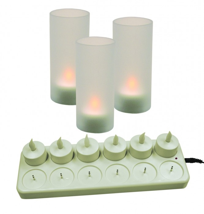 Update International CDL-12S Rechargeable LED Candle Set 12 Pack