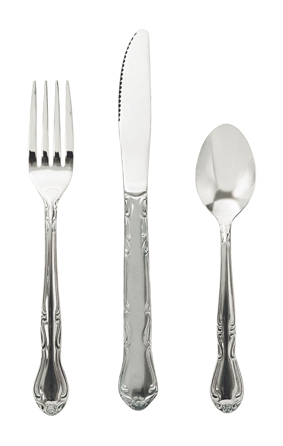 Update International CE-201 Claridge Teaspoon, Bright Polish - 1 doz