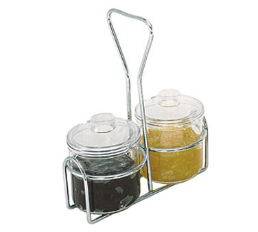 Update International CJ-72H Condiment 2 Hole Jar Holder