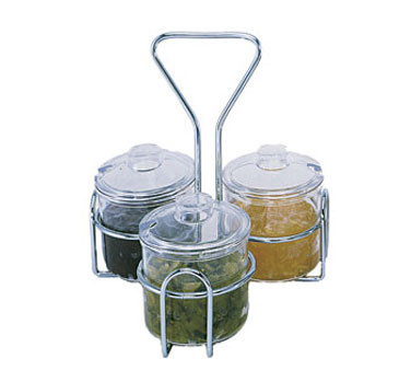 Update International CJ-73H Condiment 3 Hole Jar Holder