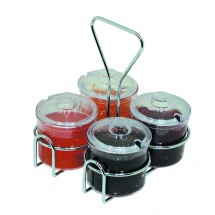Update International CJ-74H Condiment 4 Hole Jar Holder