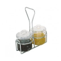 Update International CJ-7AC Plastic 7 Oz. Condiment Jar - 1 doz