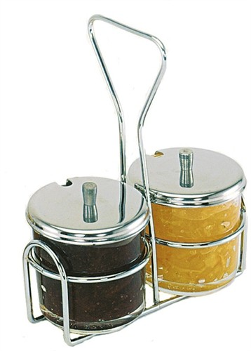 Update International CJ-7GL Glass Condiment Jar  7 oz.- 1 doz