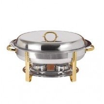 Update International DC-2DF 2-Division Food Pan for DC-3 Chafer