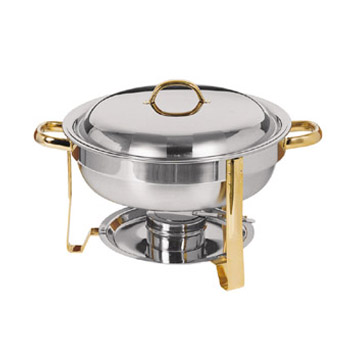 Update International DC-4/GB 4 Qt. Round Chafing Dish Pack in Gift Box