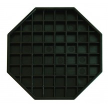 Update International DT-6X6 Black Octagon Drip Tray