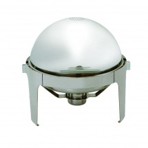 Update International EC-14N Round Roll Top Chafer Dish 6-1/2 Qt.