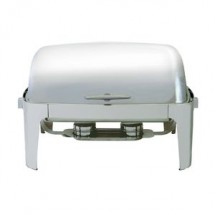 Update International EC-15N Full Size Roll Top Chafer Dish 8 Qt.