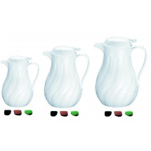 Update International F3022/40  White Swirl Coffee Server 42 Oz.