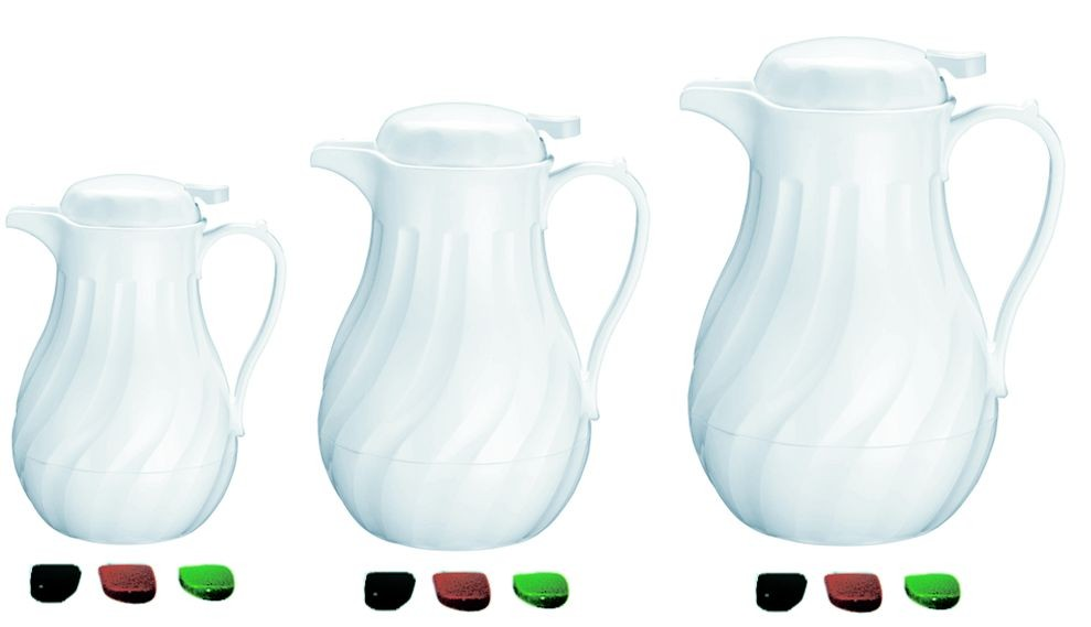 Update International F3022/60  White Swirl Coffee Server 64 Oz.