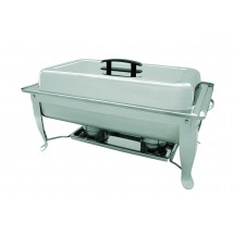 Update International FCC-11P Full Size Stainless Steel Rectangular Folding Chafer