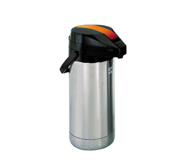 Update International FLSV-30/OR/BT Stainless 3 Liter Vacuum Decaf Airpot with Glass Lining