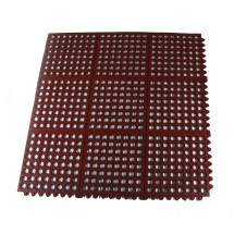 Update International FM-33R Red Interlocking Rubber Floor Mat - 25 pcs