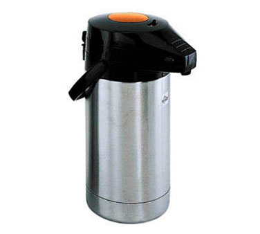 Update International FPSV-30/OR/BT Stainless 3 Liter Decaf Airpot with Push Button