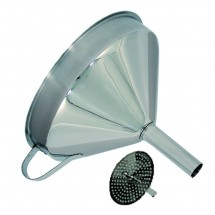 Update International FSV-5S Stainless Steel Funnel With Strainer 5""