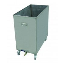 Update International HFSC-6 16 Gallon Stainless Steel Hood Filter Soak Cart