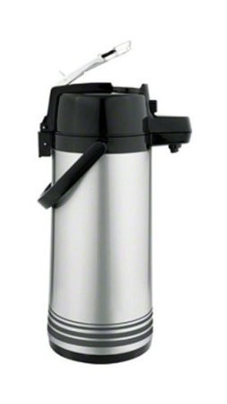 Update International LSVL-25/BK/SF Stainless Steel 2-1/2 Liter Decaf Airpot