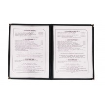 Update-International-MCV-2BK-Black-9-1-4--x-12--Double-Fold-Menu-Cover
