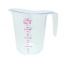 Update International MEA-100PC Plastic Dry Measuring Cup 1 Qt.