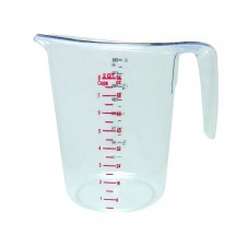 Update International MEA-200PC Plastic Dry Measuring Cup 2 Qt.