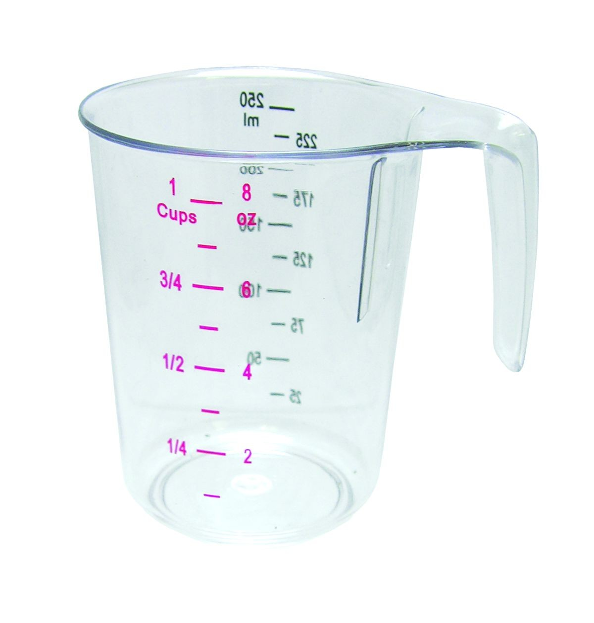 Update International MEA-25PC 1 Cup Plastic Dry Measuring Cup