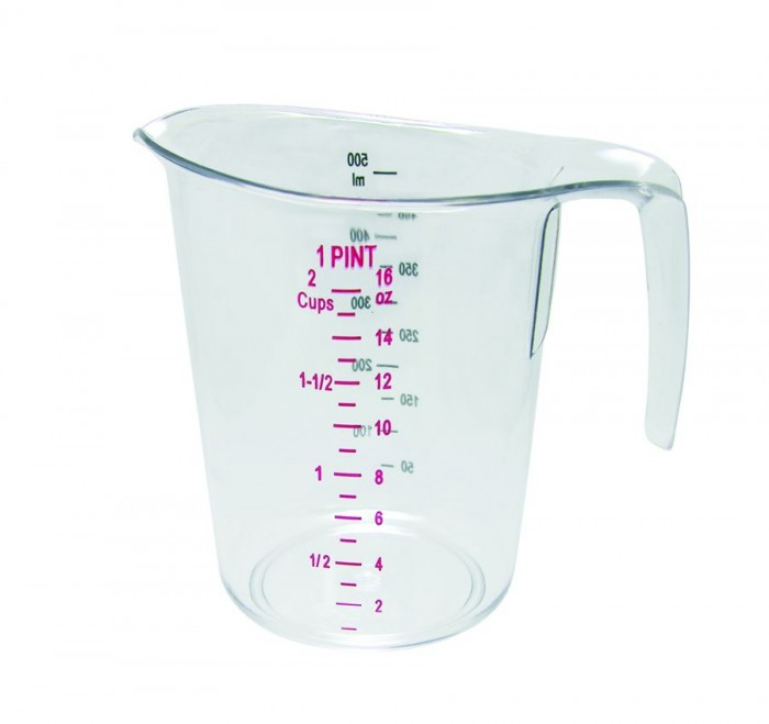 Update International MEA-50PC Plastic Dry Measuring Cup 1 Pint